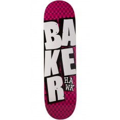 Baker Hawk Stacked BLK Checkers Skateboard Deck - 8.38""
