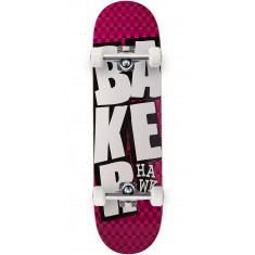 Baker Hawk Stacked BLK Checkers Skateboard Complete - 8.38""