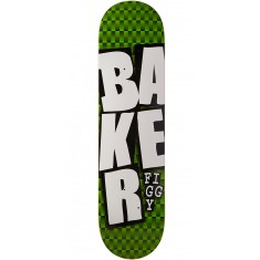 Baker Figgy Stacked GRN Checkers Skateboard Deck - 7.75""