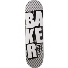 Baker Cyril Stacked BLK Checkers Skateboard Deck - 8.125""