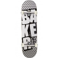 Baker Cyril Stacked BLK Checkers Skateboard Complete - 8.125""