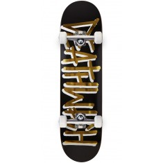Deathwish Deathspray Black/Gold Skateboard Complete - 8.00""