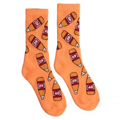 40s And Shorties 40 Bottles Socks - Peach