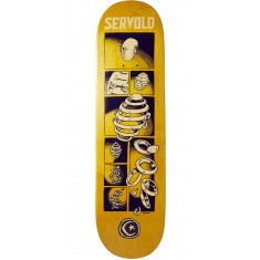 Foundation Servold Splittin Skateboard Deck - Yellow - 8.25""