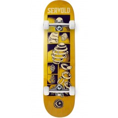 Foundation Servold Splittin Skateboard Complete - Yellow - 8.25""