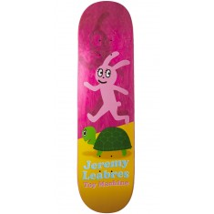 Foundation Leabres Turtle And Hare Skateboard Deck - Pink - 8.25""