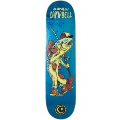 Foundation Campbell Gone Fishin Skateboard Deck - Blue - 8.00""