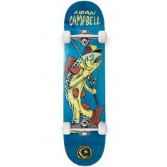 Foundation Campbell Gone Fishin Skateboard Complete - Blue - 8.00""