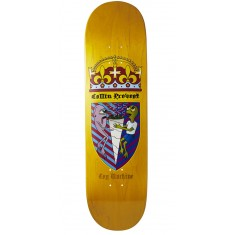 Toy Machine Provost Cone Of Arms Skateboard Deck - Yellow - 8.50""