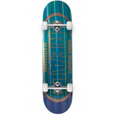 "Real Busenitz Holographic Oval Skateboard Complete - 8.18"" - Teal"