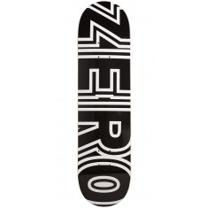 Zero Bold Black Skateboard Deck - 8.00""