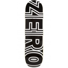 Zero Bold Black Skateboard Deck - 8.50""