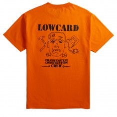 Lowcard Frankenstein Construction Crew Pocket T-Shirt - Orange