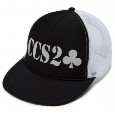 Lowcard Shop Collab Mesh Hat - Black/White