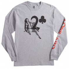 Lowcard Hauk Straddle By Jeanine Hauk Long Sleeve T-Shirt - Heather Grey