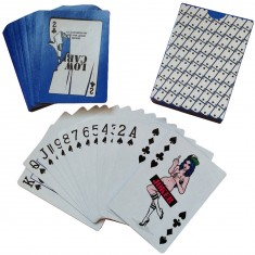 Lowcard Joker's Wild Deck Of Cards By Todd Bratrud - Blue
