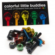 Enjoi Little Buddies Bolts Hardware - Multi - 7/8in
