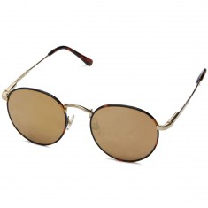 Crap The Tuff Patrol Sunglasses - Brown Tortoise Rims/Polished Gold Wire