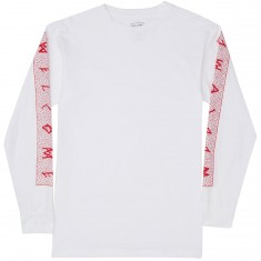 Welcome Slippery Long Sleeve T-Shirt - White/Red