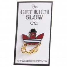 Get Rich Slow Pin DMC Pin - Gold