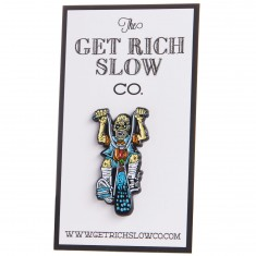 Get Rich Slow Assault Skateboards HMC Graveyard Pin