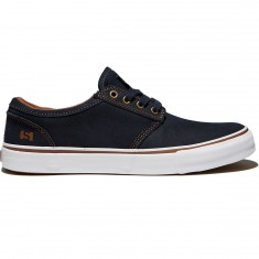 State Elgin Shoes - Navy/White Suede