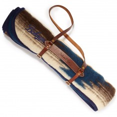 Bohnam Sycamore Blanket Roll With Strap - Navy/Brown