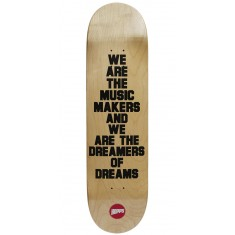 Hopps We Are The Music Skateboard Deck - Black - 8.375""
