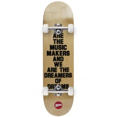 Hopps We Are The Music Skateboard Complete - Black - 8.375""