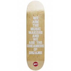 Hopps We Are The Music Skateboard Deck - White - 8.125""