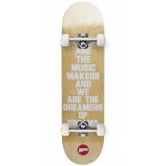 Hopps We Are The Music Skateboard Complete - White - 8.125""
