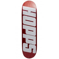 Hopps Bighopps Skateboard Deck - White/Red - 8.125""