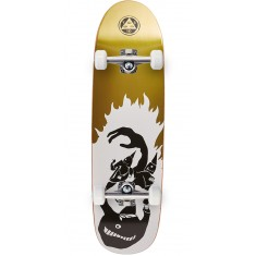 Welcome Creepers on Atheme Skateboard Complete - White/Gold Foil - 8.8