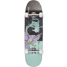 Welcome Miller Prequel on Catblood 2.0 Skateboard Complete - Black/Teal - 8.75