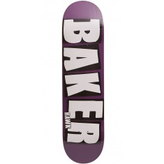 Baker Brand Name Skateboard Deck - Riley Hawk - Plum - 7.875