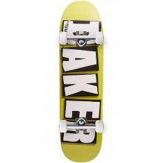Baker Brand Logo Shaped Skateboard Complete - Green - 8.475