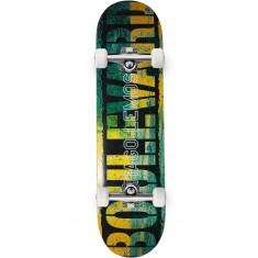 Boulevard Tiago Split Skateboard Complete - Green/Yellow - 8.00""
