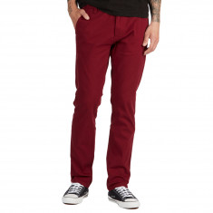 CCS Straight Fit Chino Pants - Burgundy