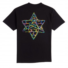 Pyramid Country LA Tech T-Shirt - Black/Rainbow