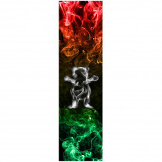Grizzly Smoke Bear Grip Tape - Rasta