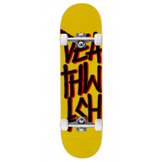 Deathwish Deathstack Skateboard Complete - Yellow/Black - 8.475""