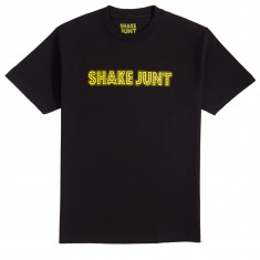 Shake Junt Stretch Logo T-Shirt - Black/Yellow