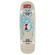 Send Help White Widow Shaped Skateboard Complete - 9.50""