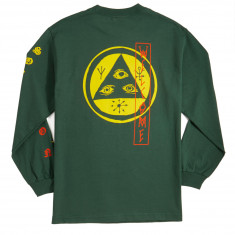 Welcome Beckon Long Sleeve T-Shirt - Forest/Yellow/Orange