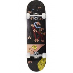 "Less Than Local Jupe Flowers Skateboard Complete - 8.50"" - Black"