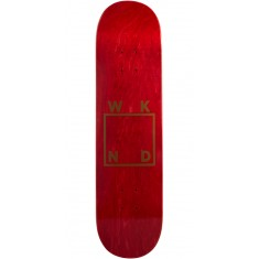 WKND Gold Logo Skateboard Deck - Red - 7.75""