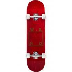 """WKND Gold Logo Skateboard Complete - Red - 7.75"""""""
