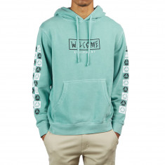 Welcome Eracer Pigment Dyed Hoodie - Teal/Black/White