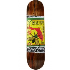 "Politic Ziki Skateboard Deck - 8.00"" - Brown"