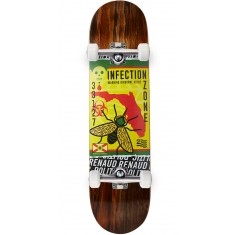 "Politic Ziki Skateboard Complete - 8.00"" - Brown"